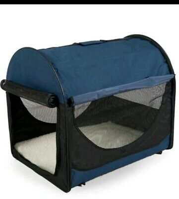 Easy Folding Pet Crate Puppy Folds Down for Storage Travel Keep Pet Safe