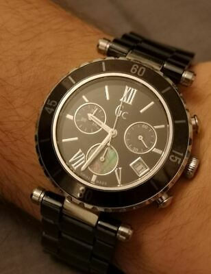529ded5ba GC GUESS LADIES Watch 33003L Stainless Steel and Black Ceramic ...