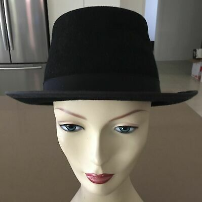 J HATS AMERICANA COLLECTIONS Mens Vintage Black Bowler Hat Size M (approx. 56cm)