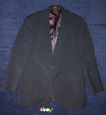 BROOKS BROTHERS Men's Sport Coat Blazer Sz 43R 100% Wool Charcoal Gray EUC