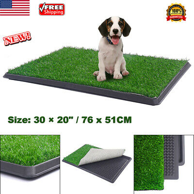 """Pet Dog Potty Toilet Trainer Puppy Pee Patch Pad Tray Restroom Grass Mat 30""""X20"""""""