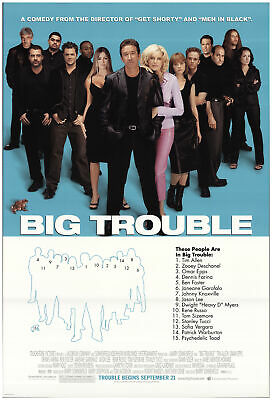 Big Trouble 2002 27x40 Orig Movie Poster FFF-73940 Rolled Fine, Very Fine