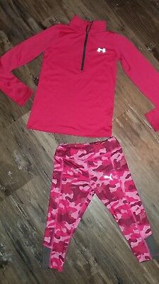 New Little Girl Set Under Armour Puma Athletic Pull Over Sweatshirt Capri Pant 5
