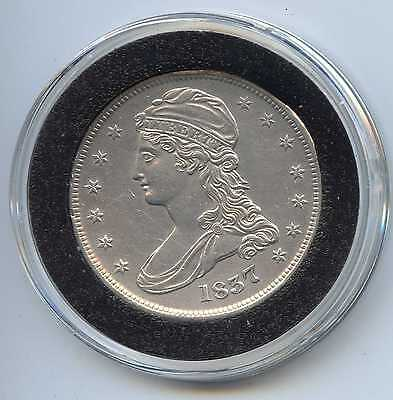 1837 Reeded Edge Capped Bust Silver Half Dollar. Almost Uncirculated. Lot #1268