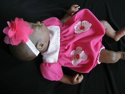 ROMPER-HEADBAND Fits 14-16 inch Reborn Doll - Handmade Clothing