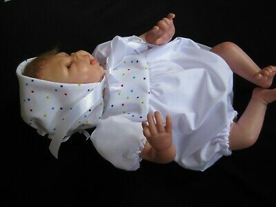 ROMPER SET -Fits 10-12 inch Reborn Doll - Handmade Clothing