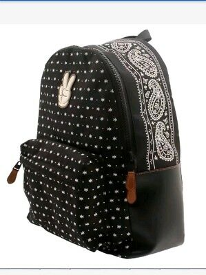 4a220ea66cb2 DISNEY COACH MICKEY Mouse Black Leather Charles Backpack F59018 ...