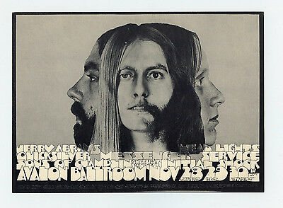 Family Dog Postcard 147 Androgyn 1968 Nov 28 Quicksilver Messenger Service