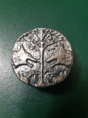 2.00 ozt hand poured .999 silver wolf coin.