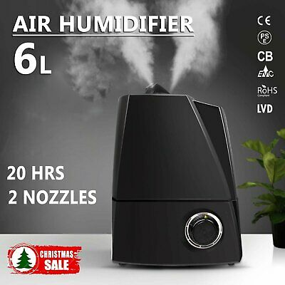 6L Ultrasonic Air Humidifier Room Office Air Mist Purifier Freshener Diffuser BO