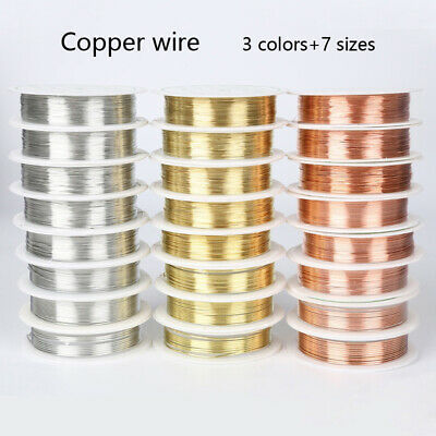 3 Colors 1 Roll Enameled Craft Copper Wire Jewelry Making 0.2-1mm
