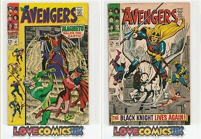 The Avengers #47 & #48 Dane Whitman Black Knight Marvel Comics