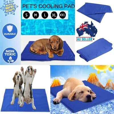 Pet Cool Gel Mat Dog Cat Bed Non-Toxic Cooling Dog Summer Pad 5 Sizes PVC materi