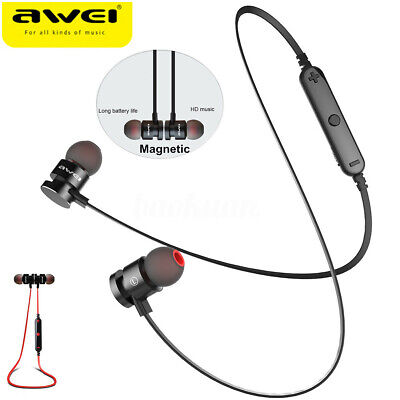 9c1cf9b9f2e AWEI T11 Sport Magnetic Wireless bluetooth Stero Headphone Headset Supper