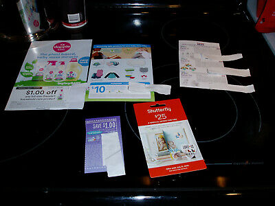 7 Baby coupons Lansinoh,shutterfly,dapple, & 3 Avent from Buybuybaby totals $52