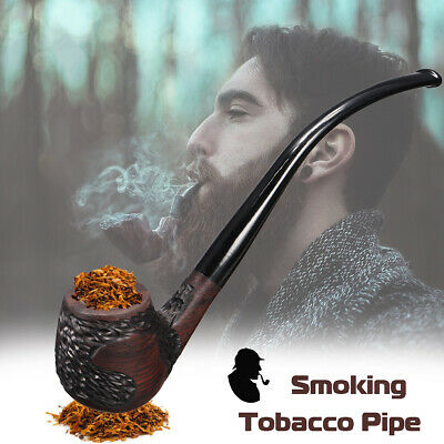 Ebony Wooden Man High-ended Smoking Pipe Tobacco Cigarettes Cigar Pipes Gift  !