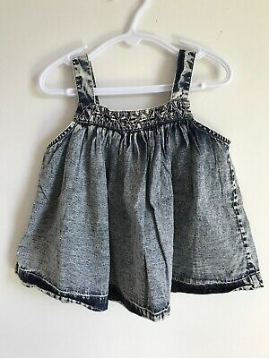 Childern Of The Tribe Dress And Bloomers Size 0 In Stone Washed Denim