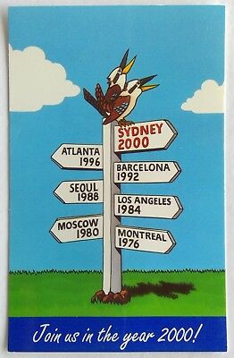 Join Us In The Year 2000! Olympic Games Sign Post Generic Postcard (P315)