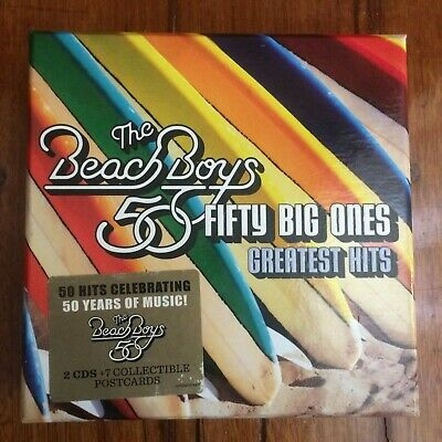 The Beach Boys 50 Fifty Big Ones Greatest Hits 2 CDs + 7 Collectible Postcards