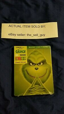 Illumination Dr Seuss The Grinch Best Buy Steelbook Blu Ray Dvd Stole Christmas