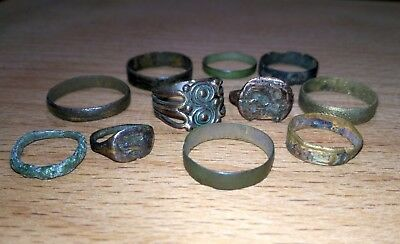 Rings and rings, a large lot of different eras.Kievan Rus, 16-17th century.