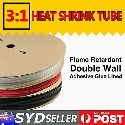 Glue Lined Heat Shrink Tubing Adhesive 3:1 Dual Wall Electric Lugs Wire Sleeve