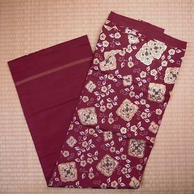 【NAGOYA OBI】JAPANESE VINTAGE SILK NAGOYA OBI, Made in Japan.(o-039ex)