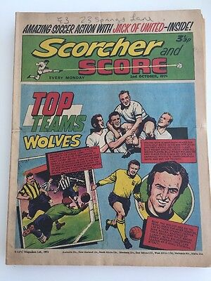 Scorcher and Score Comic 2 October 1971 Top Teams Wolves Wolverhampton Wanderers