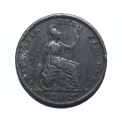 1828 UK One 1 Farthing - George IV 2nd issue - Lot 383