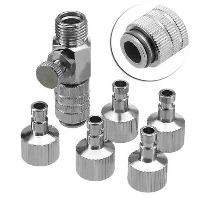 """Airbrush Quick Release Coupling Disconnect Adapter w/1/8"""" Plug Fitting Part AU"""