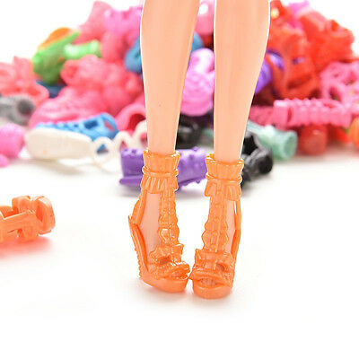 30X 15Pair High Heel Sandals Shoes For  Doll Toy Princess Dress Clothes FTEO