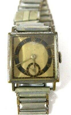 Old Vintage Art-Deco  Hand Winding Watch Swiss Made Run