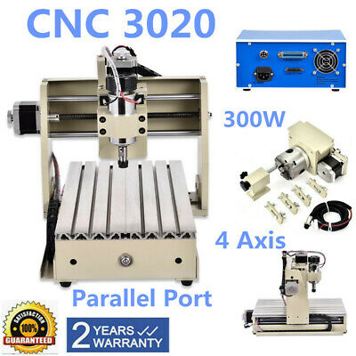 300W 4 Axis Router Milling Drilling Engraving Machine CNC 3020  Engraver 220V