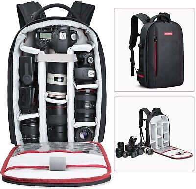 Beschoi Camera Backpack Bag Case Waterproof Large for Canon Nikon Sony DSLR SLR