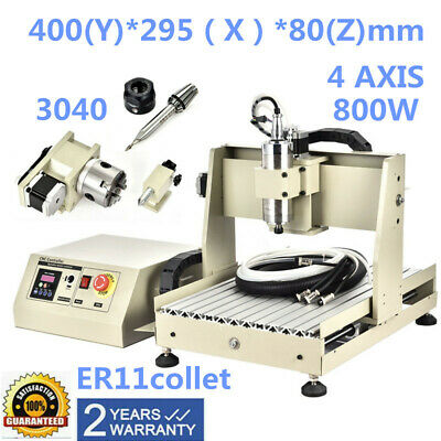 Cnc 3040 4 Axis Router Engraver 800W Engraving Cutter Milling 3D Cutter Top!
