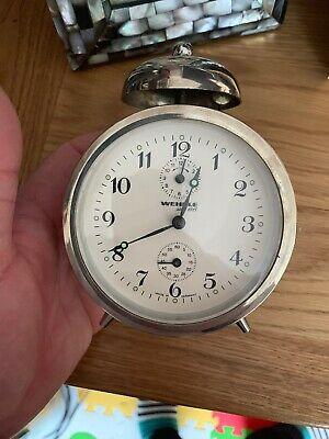 Vintage stylish Wehrle Alarm Clock in fabulous condition !!!!!!!