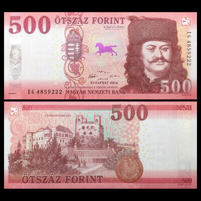 Hungria Hungary 500 Forint, 2018, P-NEW , UNC, Europe Paper Money