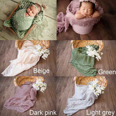 Newborn Wrap Baby Photography Quilt Photo Props Cotton Blend Mat Blanket Gift