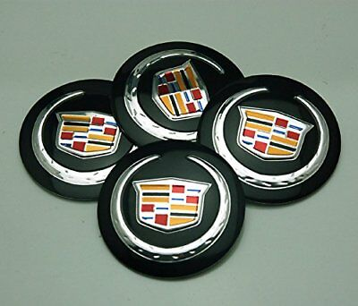4X 56mm Black CADILLAC Car Wheel HUB  Center Cap Badge Stickers CTS ATS STS DTS