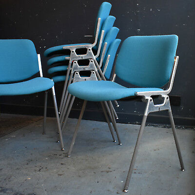 Vintage DSC 106 Stacking Chairs by Giancarlo Piretti for Castelli, Mid Century