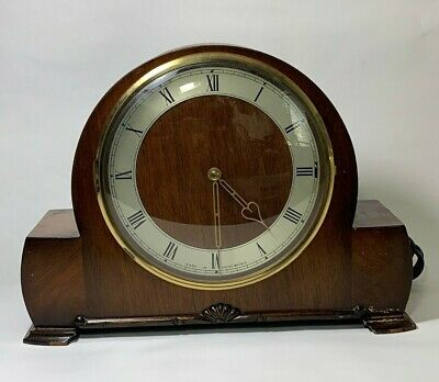Antique Vintage Genalex Synchronous Electric Mantel Clock with instructions
