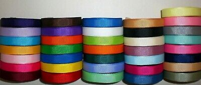 "Grosgrain Ribbon Lot 36 Yards Solid Colors 3/8 Inch ""Refbl3"