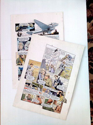 Original Comic Art 2 page lot of THE A TEAM by Gray