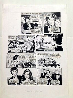 Original Comic Art of KNIGHT RIDER by Phil Gascoine (signed)