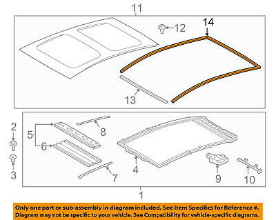 Toyota OEM Sunroof Weatherstrip Weather Strip Seal 63251-0E010 Factory 2005-2017