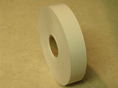 "8 ROLLS - 1"" x 500 Feet Each - Water Activated WHITE KRAFT PAPER TAPE"
