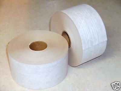 250 Yards - 2 Rolls Reinforced WHITE KRAFT PAPER TAPE