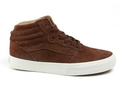 6daa0c72183827 Vans Milton Hi Mte All Weather Suede Potting Soil gum Mens Trainers Uk 7.5  Eu