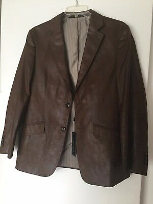 Men's Andrew Fezza 2 Button Jacket Blazer Sport Coat 40R light brown