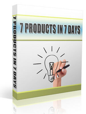 How to Create 7 Digital Products in 1 Week (ebook-pdf file) free shipping